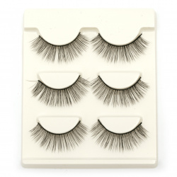3D eyelashes from artificial hair EXTRA quality 05 -3 sets