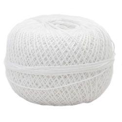 Прежда памук Кайро 1.4 мм -100 грама-380 метра Бяла