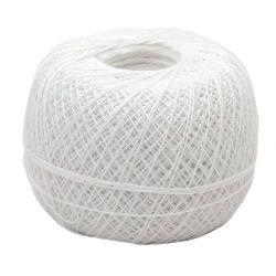 Прежда памук Бомбай 0.7 мм -100 грама-550 метра Бяла