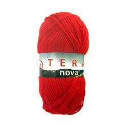 Прежда ТЕРА НОВА червена 50 грама- 160 метра