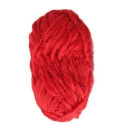 Прежда ТУНДРА червена 50 процента мерино 50 процентаполиестер 100 грама -120 метра