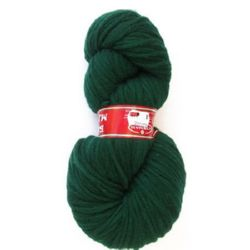 YARN LIVING WOOL green,for handmade -100 grams