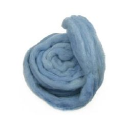 YARN WOOL felt tape light blue for handmade clothes and accessories -50 grams ~ 1.8 meters