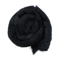 YARN WOOL felt tape black  for handmade clothes and accessories-50 grams ~ 1.8 meters