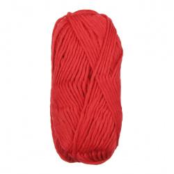 Прежда АМБАСАДОР червена 50 процента вълна и полиестер 100 грама -150 метра