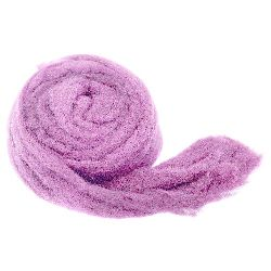 YARN WOOL felt tape light purple  for handmade clothes and accessories-50 grams ~ 1.8 meters