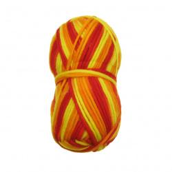 Прежда мерино Лана жълто -оранжeво -120 метра -100 грама