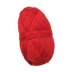 Macrame 2 mm roșu -120 m -100 grame