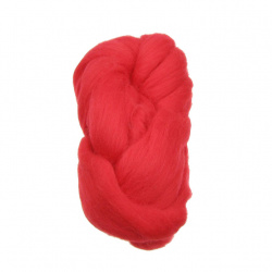 Yarn red wool tape 100 grams ~ 5 meters