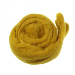 YARN WOOL felt tape ocher for handmade-50 grams ~ 1.8 meters