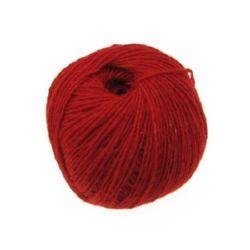 Прежда вълна червена -50 грама