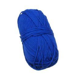 Макраме 2 мм синьо -120 м -100 грама