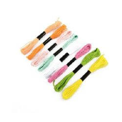 Embroidery Cotton Thread, 8 m MIXED Colors