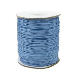 Шнур полиестер 0.8 мм син светло ~120 метра