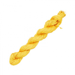 Κορδόνι πολυεστέρα 2 mm κίτρινο σκούρο ~ 10 μέτρα