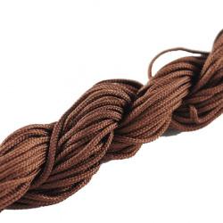 Шнур полиестер 2 мм кафяв тъмен ~10 метра