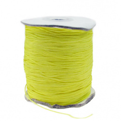 Шнур полиестер 1 мм жълт ~182 метра