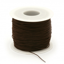 Полиестерен шнур 0.8 мм кафяв ~120 метра