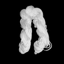 Шнур полиестер 1.5 мм бял ~18 метра