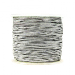 Polyester jewellery cord  1 mm gray ~ 35 meters