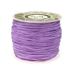 Polyester jewellery cord  1 mm purple ~ 35 meters