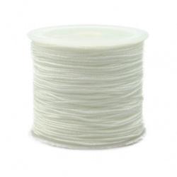 Snur  poliester 1 mm alb ~ 35 metri