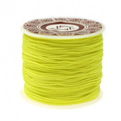 Polyester jewellery cord  1 mm yellow ~ 35 meters