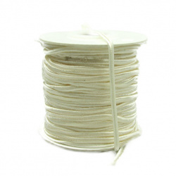 Текстилен шнур за Сутаж 3 мм цвят екрю -1 метър