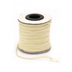 Текстилен шнур за Сутаж 3 мм цвят шампанско -1 метър
