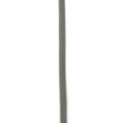 Шнур коприна 5x3 мм Habotai цвят сив светло -1 метър