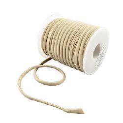 Silk cord 5x3 mm Habotai color beige -1 meter