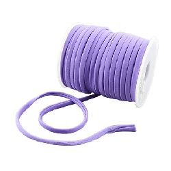 Silk cord 5x3 mm Habotai color purple light -1 meter