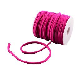 Silk cord 5x3 mm Habotai color cyclamen -1 meter