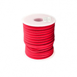 Silk cord 5x3 mm Habotai color red -1 meter