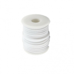 Silk cord 5x3 mm Habotai color white -1 meter