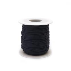 Шнур полиестер 1 мм син тъмен ~23 метра