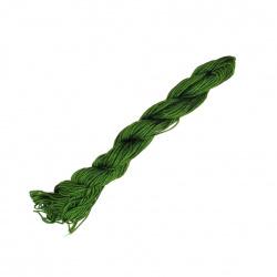 Шнур полиестер 1 мм зелен маслинен ±23 метра