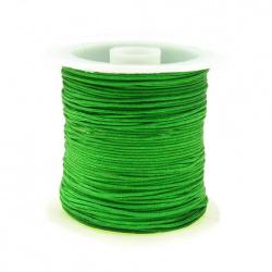 Snur poliester 1 mm verde ~ 10 metri