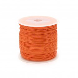 Polyester jewellery cord 1 mm orange ~ 10 meters