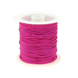 Polyester jewellery cord1 mm cyclamen ~ 10 meters