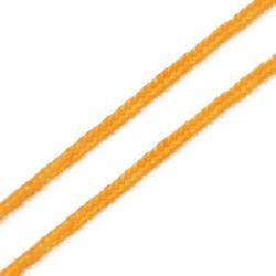 Шнур полиестер 0.8 мм оранжев -10 метра