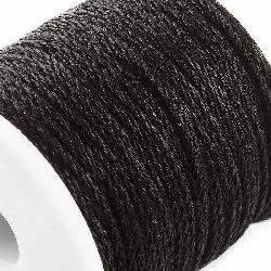 Шнур /конец/ полиестер 1.5 мм объл черен -5 метра