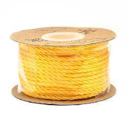 Polyester jewellery cord 2 mm orange -5 meters