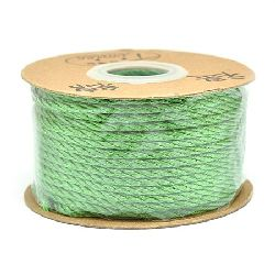 Polyester jewellery cord2 mm green -5 meters