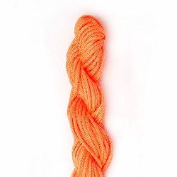 Polyester jewellery cord 2 mm orange electrician ~ 10 meters