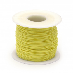 Шнур полиестер 0.8 мм жълт светло ~120 метра