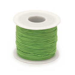 Шнур полиестер 0.8 мм зелен светло ~120 метра