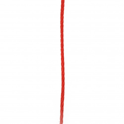 Шнур полиестер 3 мм червен -5 метра