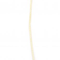 Шнур полиестер 3 мм бежов -5 метра