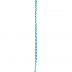 Shnur poliester 3 mm turcoaz -5 metri